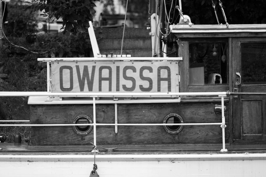 Boat Owaissa Northwich River Weaver By Christian Dobbie